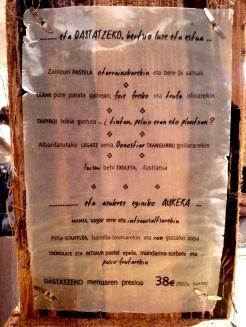 Carta y Menú Degustación del Restaurante Urbano